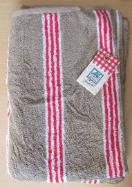 Marieke at Home Natural Stripe (red)
