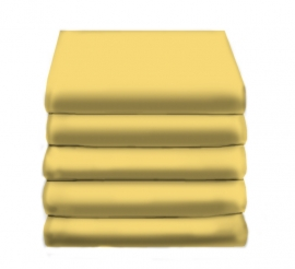 Hoeslaken Katoen (geel)