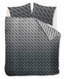 Beddinghouse Dekbedovertrek Padded (blue grey) 140x200/220