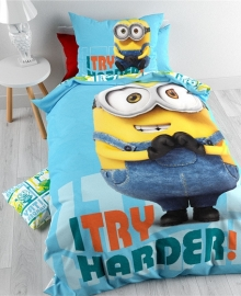 Minions Dekbedovertrek I Try Harder (multi) 140x200