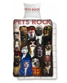 Pets Rock Dekbedovertrek (multi) 140x200
