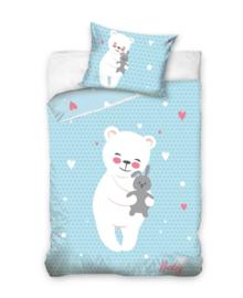 Baby Dekbedovertrek Cuddly Bear (blue) 100x135