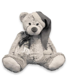 Unique Living Plush Bear Santa (grey) 37 cm