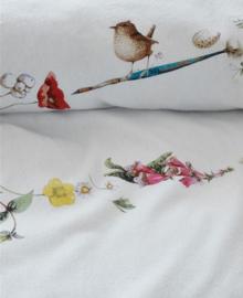Marjolein Bastin Flanellen Dekbedovertrek Flowery (white) 240x200/220