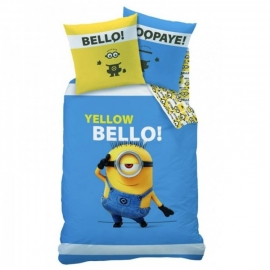 Despicable Me Dekbedovertrek Yellow Bello (blue) 140x200