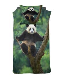 Damai Dekbedovertrek Panda (green) 140x200/220