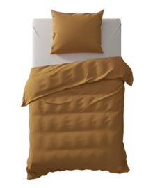 Yellow Dekbedovertrek Percale (cognac brown) 140x200/220