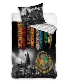 Harry Potter Dekbedovertrek Banners (grey) 140x200