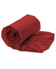 HNL Royal Cotton Split-Topper Hoeslaken Perkal Katoen (aurora red)