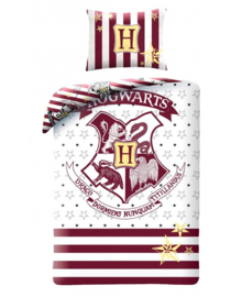 Harry Potter Dekbedovertrek Hogwarts (white) 140x200