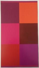 Strandlaken Blok (fuchsia/roze) 100x200