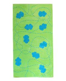 Strandlaken Autoos (blauw/groen) 86x160