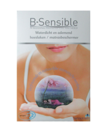 B-Sensible Split-Topper 2 in 1 Hoeslaken + Matrasbeschermer (wit)
