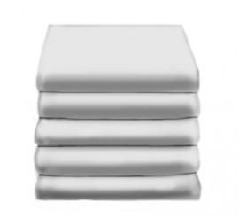 Hoeslaken Satijn Katoen (silver grey)