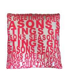 Essenza Sierkussen Seasons Greeting (red/silver)