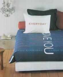Beddinghouse Dekbedovertrek I Love You (blauw) 200x200/220