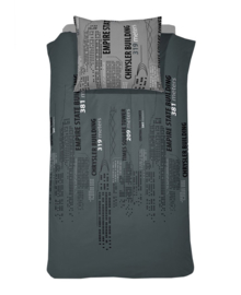 Damai Dekbedovertrek Skyline (grey) 140x200/220
