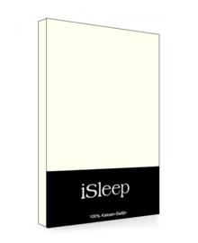 iSleep Hoeslaken Satijn Katoen (licht beige)