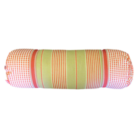 Marieke at Home Sierkussen Natural Stripe (red) 18x60