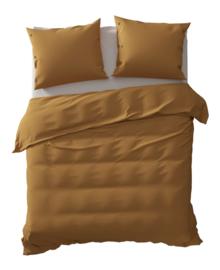 Yellow Dekbedovertrek Percale (cognac brown) 260x200/220