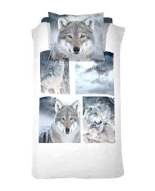 Damai Dekbedovertrek Wolves (grey) 140x200/220