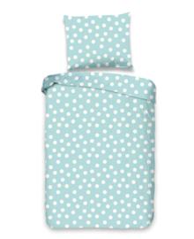 Good Morning Dekbedovertrek Dots (blue) 100x135