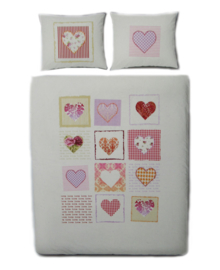 Covers & Co Dekbedovertrek Sweet Hearts (multi) 240x200/220