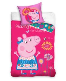 Peppa Pig Dekbedovertrek Flowers (pink) 140x200