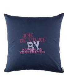 Kardol & Verstraten Sierkussen Joie de Vivre (blue) 50x50