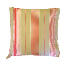 Marieke at Home Sierkussen Natural Stripe (red) 50x50