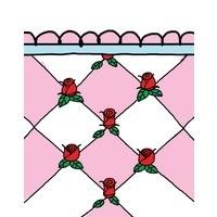 Babette Gastendoekje Roosjes (roze) 30x50