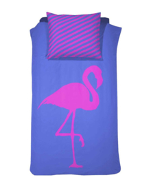 Damai Dekbedovertrek (BFF) Best Flamingo Forever (electric blue) 140x200/220