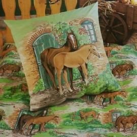Dekbedovertrek Paard en Veulen (multi)
