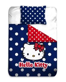 Hello Kitty Dekbedovertrek Dots (blue) 140x200