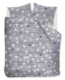 Ariadne at Home Dekbedovertrek Knitted Hearts (grey) 200x200/220
