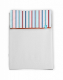 Lakentje Puppy Stripe (white) 75x100