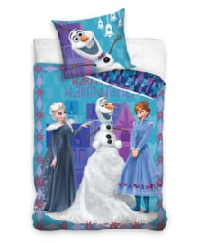 Frozen Dekbedovertrek Warm Wishes (multi) + Gratis 3D Placemat!