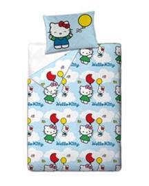 Hello Kitty Dekbedovertrek Flying Balloon (light blue) 140x200