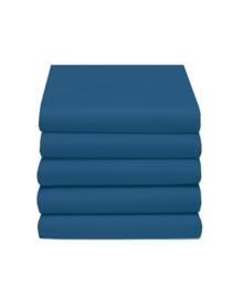 Hoeslaken Katoen (donker blauw)