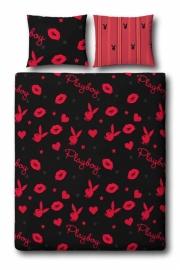 Playboy Dekbedovertrek Kissing (black) 240x200/220