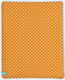 Lief! Hoeslaken Orange Dots 40x80