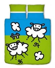 Junior Dekbedovertrek Sheeps (groen) 140x200