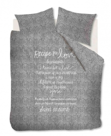 Ariadne at Home Dekbedovertrek Recipe For Love (anthracite) 200x200/220