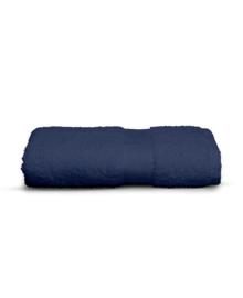 Twentse Damast Handdoek Uni (marine) 50x100