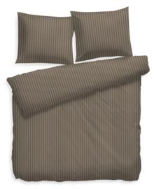 Heckett & Lane Dekbedovertrek Satin Stripe (taupe grey) 240x200/220