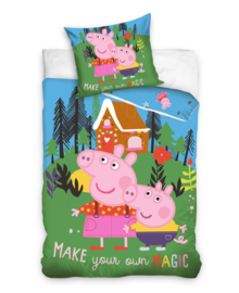 Peppa Pig Dekbedovertrek Make Your Own Magic (multi) 140x200