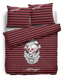Ed Hardy Dekbedovertrek Love Kills Slowly Stripe (red) 240x200/220
