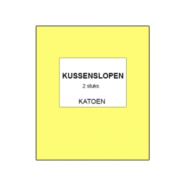 Kussenslopen Katoen 2 stuks (licht geel) 60x70
