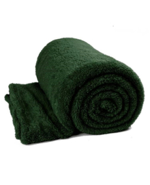 Unique Living Plaid Teddy Glitter 150x200 cm (dark green)