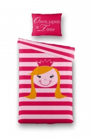 Dekbedovertrek Prinsesje (roze) 140x200